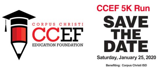 CCEF's Hearts and Minds 5K Run/Walk  registration logo
