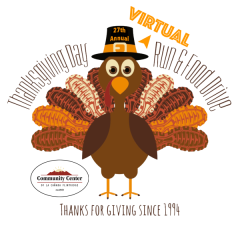 CCLCF Thanksgiving Day Run & Food Drive registration logo