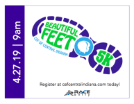 CEF Beautiful Feet 5k, 1 Mile & Kids Fun Run 4/27 registration logo
