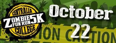 Centralia College Zombie 5k  registration logo