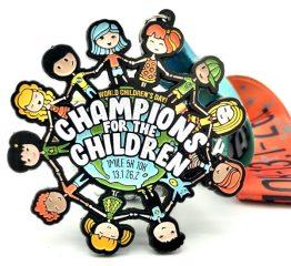Champions for the Children 1M 5K 10K 13.1 26.2 registration logo