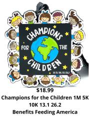 Champions for the Children 1M 5K 10K 13.1 and 26.2 registration logo