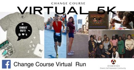CHANGE COURSE 5k Virtual Run registration logo