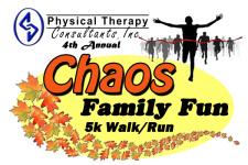 Chaos Family Fun 5k walk/run 2017 registration logo