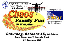 Chaos Family Fun 5k Walk/Run registration logo