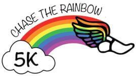 Chase the Rainbow 5K registration logo