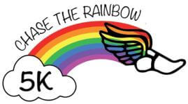 Chase the Rainbow 5K registration logo