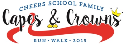 CHEERS School Family Capes and Crowns Run/Walk registration logo