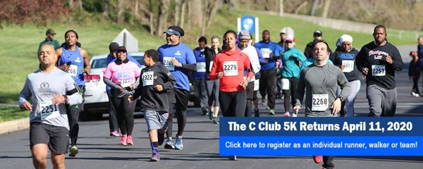 Cheyney C Club 5K run registration logo