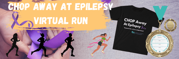 CHOP Away at Epilepsy, Run to Find a Cure Virtual Race registration logo