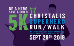 Christalis Superhero 5k Run/Walk registration logo
