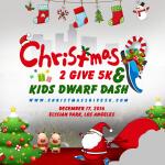 Christmas 2 Give 5k & 1/2 mile Dwarf Dash registration logo