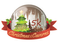 Christmas at the Caverns 5k Night Run registration logo