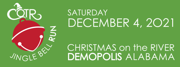 Christmas On The River Jingle Bell 5K Run registration logo