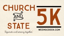 Church and State 5K registration logo