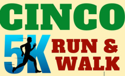 Cinco 5k Run & Walk registration logo