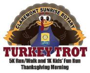 Claremont Sunrise Rotary Turkey Trot registration logo