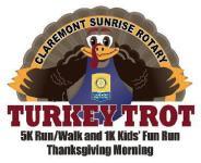 Claremont Sunrise Rotary Turkey Trot registration logo