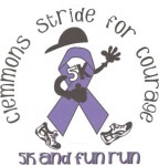 Clemmons Stride for Courage registration logo