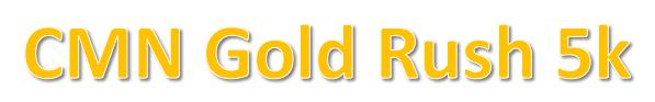CMN Gold Rush 5k registration logo