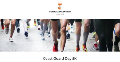 Coast Guard Day 5K registration logo