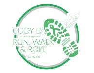 Cody D's Run, Walk, & Roll registration logo