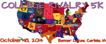 College Rivalry 5K registration logo