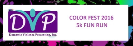 Color Fest 5k Fun Run registration logo