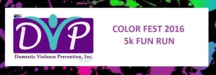 Color Fest 5k Fun Run registration logo