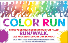 Color Fun Run benefiting competitive dancers registration logo