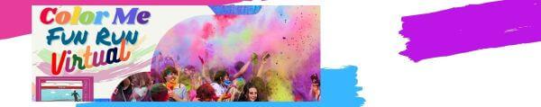 Color Me Fun Run Virtual registration logo