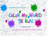 Color My World 5K Run registration logo