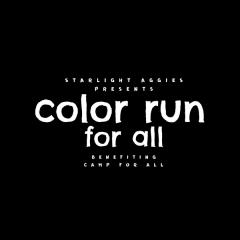 Color Run For All registration logo