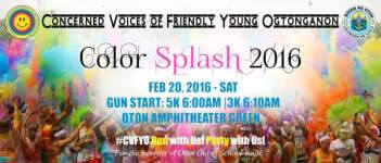 Color Splash 2016 registration logo