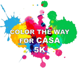 Color the Way for CASA 5K registration logo
