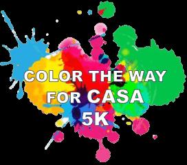 Color the Way for CASA 5K registration logo