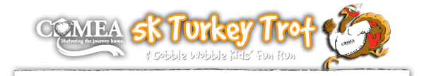 COMEA Turkey Trot 5K and Gobble Wobble Kids' Fun Run registration logo
