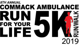 Commack Volunteer Ambulance 5K registration logo