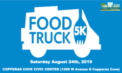 Copperas Cove Food Truck 5k registration logo
