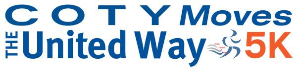 Coty Moves The United Way 5K registration logo