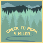 Creek to Peak 4 Miler registration logo