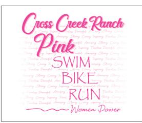 Cross Creek Ranch Pink Tri registration logo