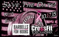 CrossFit Tullahoma/Barbells For Boobs registration logo