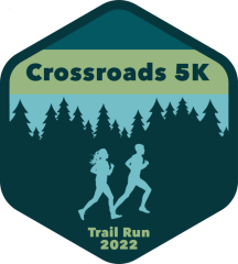 Crossroads 5K Trail Run registration logo