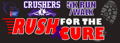 Crushers Rush For The Cure 5K registration logo