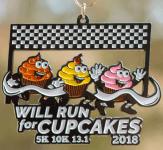 Cupcake 5K, 10K and 13.1 registration logo