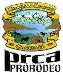 Daggett County Centennial PRCA Rodeo registration logo