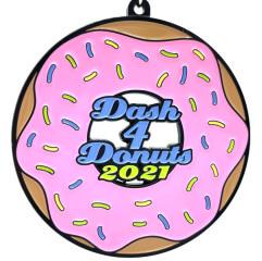 Dash 4 Donuts 1M 5K 10K 13.1 26.2 registration logo