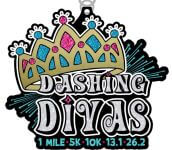 Dashing Divas 1 Mile, 5K, 10K, 13.1, 26.2 registration logo