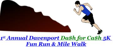 Davenport Dash for Cash 5K registration logo